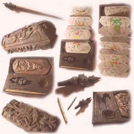 Dụng cụ xăm hình người cổ đại Thái