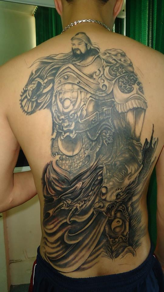 Hình xăm Quan Vũ đẹp Trường Khèo Tattoo