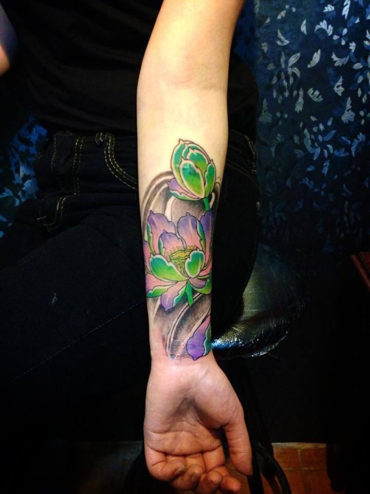 Cửa hàng xăm Tattoo Thái Nguyên đẹp Quyên Hán Tattoo