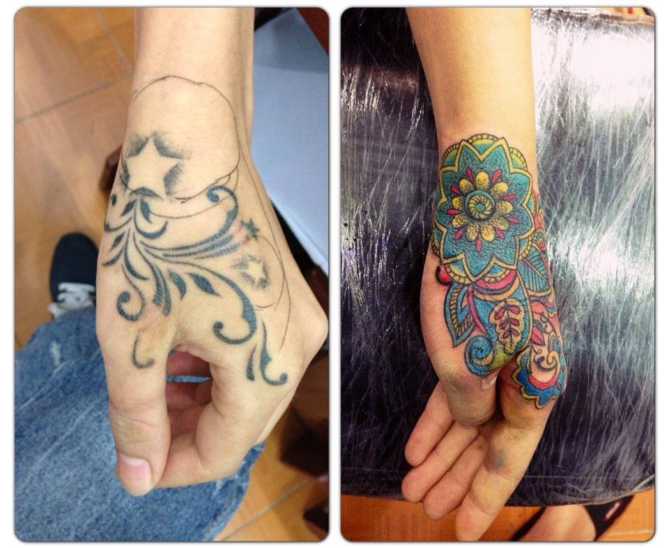 Dịch vụ xăm hình Quyên Hán Tattoo Thái Nguyên