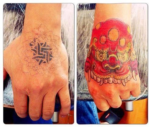 Hình xăm bắp tay đẹp Thái Nguyên Tattoo Quyên Hán