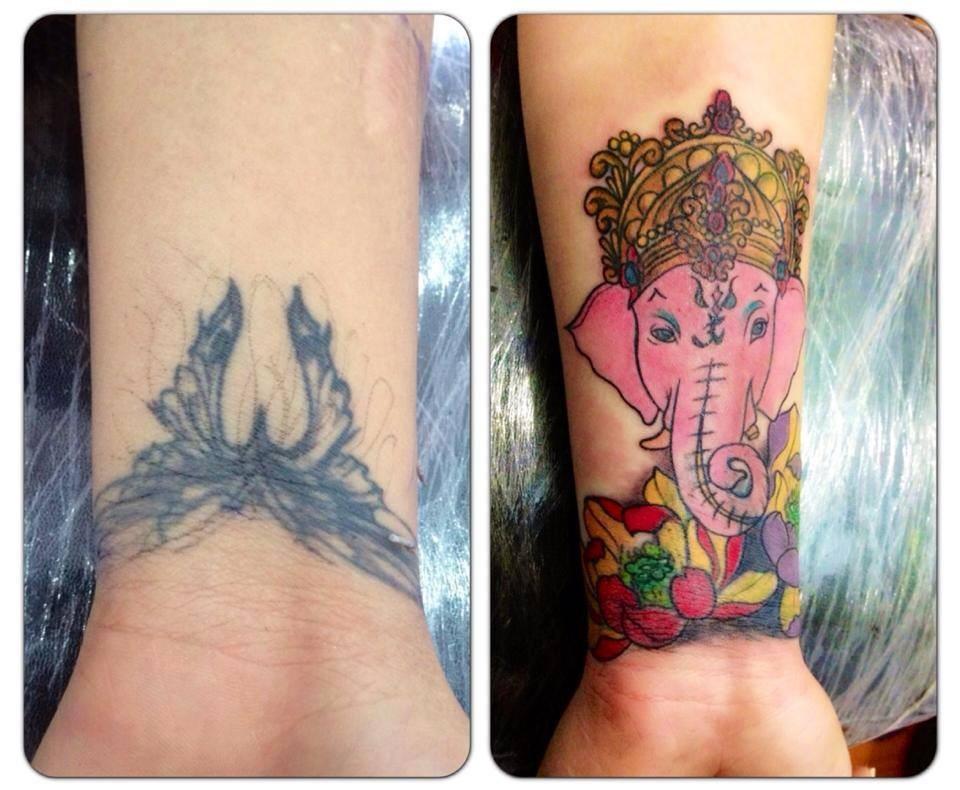 Hình xăm tay Thái Nguyên Tattoo Quyên hán