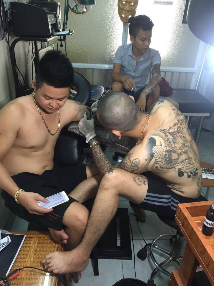 Tiến hành xăm bắp tay tại [Hà Nội] Cường Tattoo - 37 Ngách 624/12 Minh Khai