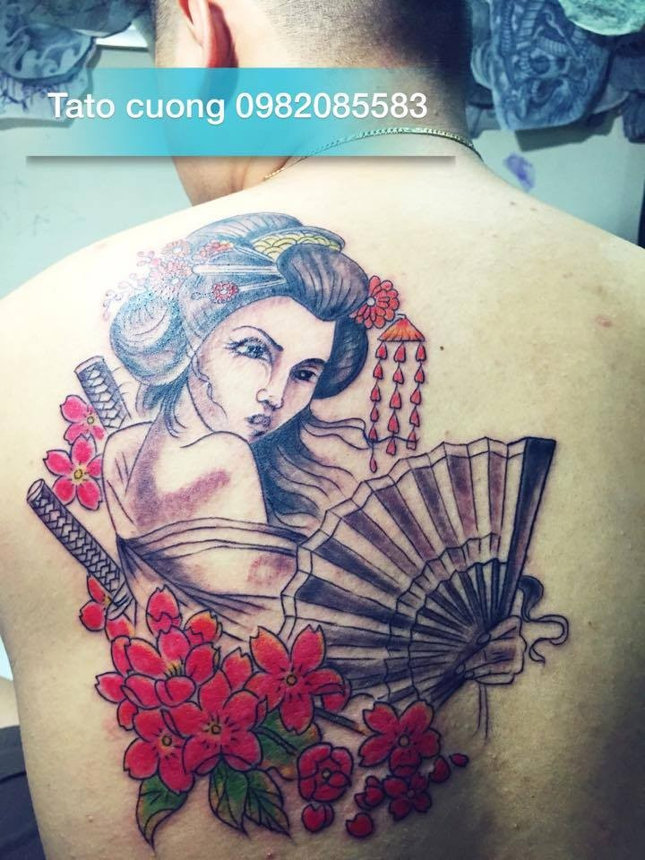 geisha nửa lưng tại [Hà Nội] Cường Tattoo - 37 Ngách 624/12 Minh Khai