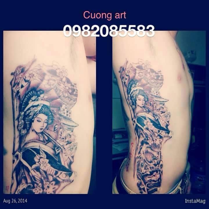 hình xăm geisha tại [Hà Nội] Cường Tattoo - 37 Ngách 624/12 Minh Khai